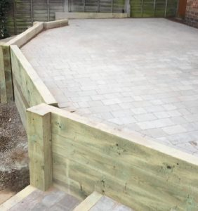 New patio by All Driveways Stratford upon Avon Warwickshire