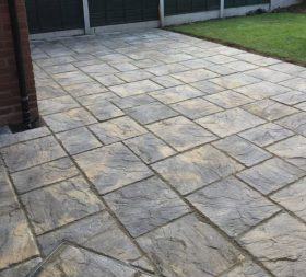 New paved patio by All Driveways Stratford upon Avon Warwickshire