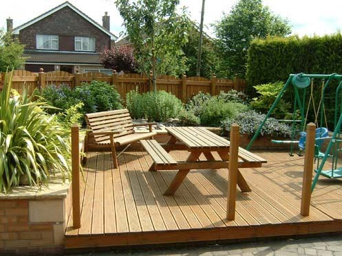 Wooden decking patio in Stratford upon Avon Warwickshire by All Driveways Stratford upon Avon Warwickshire UK
