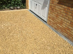 new finished gravel driveway by by All Driveways Stratford upon Avon Warwickshire